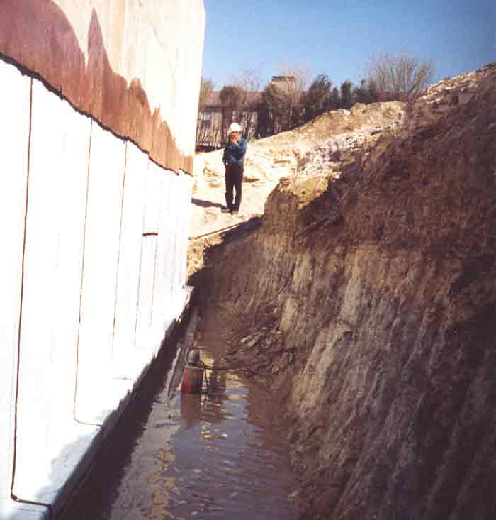 Exterior Foundation Waterproofing Membrane Moisture Barrier