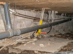 Pier and Beam Foundation Repair Small Crawl Space